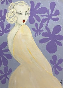Lady with Purple