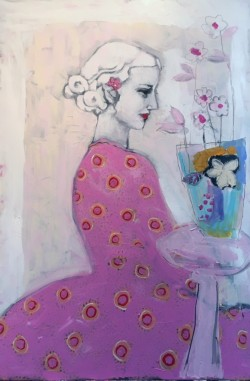 Girl with Vase of Flowers