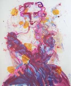 Lady with Pink Curls