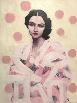 Lady with Polka Dots