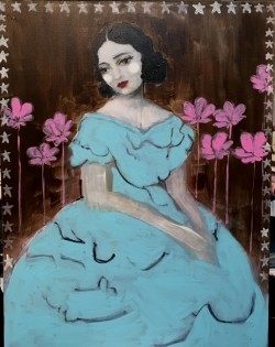 Woman in Blue  SOLD